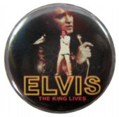 Elvis Presley - 'The King Lives' Button Badge